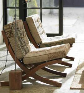 sillas  tapizadas con  arpillera